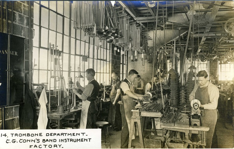 C.G. Conn's Band Instrument Factory 1913-Crook Making Department