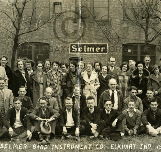 Selmer Elkhart Factory Workers Photo 1936