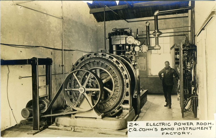 C.G. Conn's Band Instrument Factory 1913-Electric Power Room