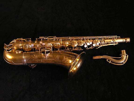 "Conn ""New Wonder"" Matte Gold Plate Tenor - 119420 - Photo # 1"