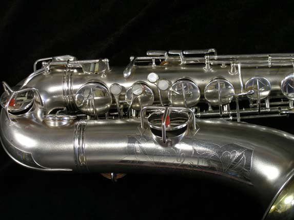 Conn Silver Plate Chu Berry Tenor - 156032 - Photo # 2