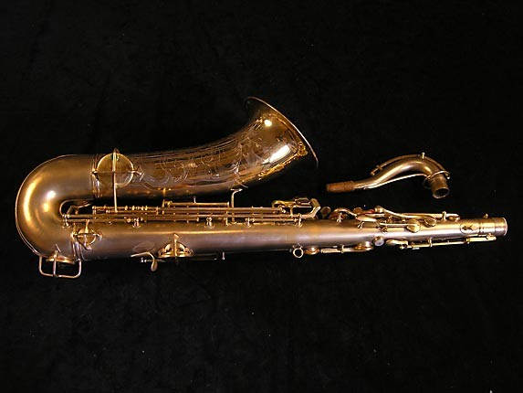 "Conn ""New Wonder"" Matte Gold Plate Tenor - 119420 - Photo # 2"
