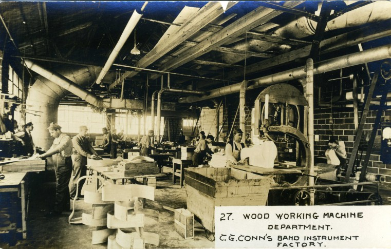 C.G. Conn's Band Instrument Factory 1913-Wood Working Machine Department
