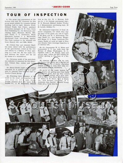 The Ameri-Conn Vol 2, No. 8 September, 1943 WWII Publication Tour of Inspection