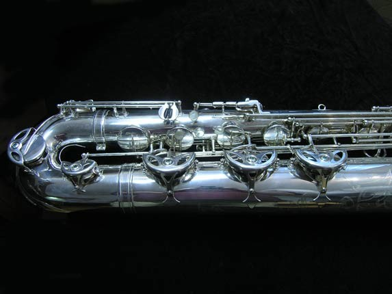 "Selmer Silver Plate Mark VI ""Low A"" Baritone - 177100 - Photo # 2"