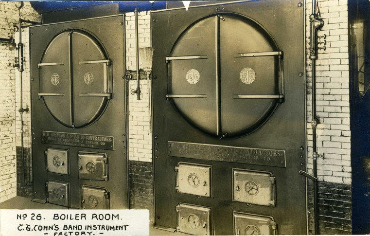 C.G. Conn's Band Instrument Factory 1913-Boiler Room