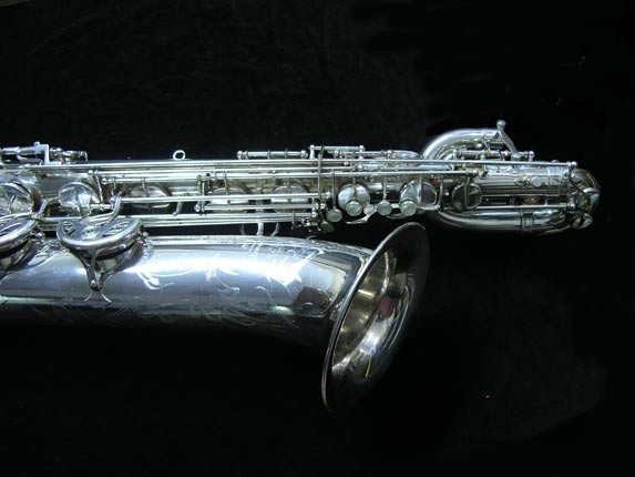"Selmer Silver Plate Mark VI ""Low A"" Baritone - 177100 - Photo # 3"