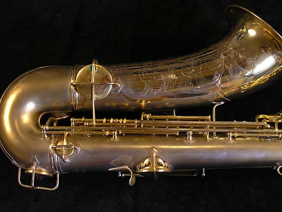 "Conn ""New Wonder"" Matte Gold Plate Tenor - 119420 - Photo # 5"