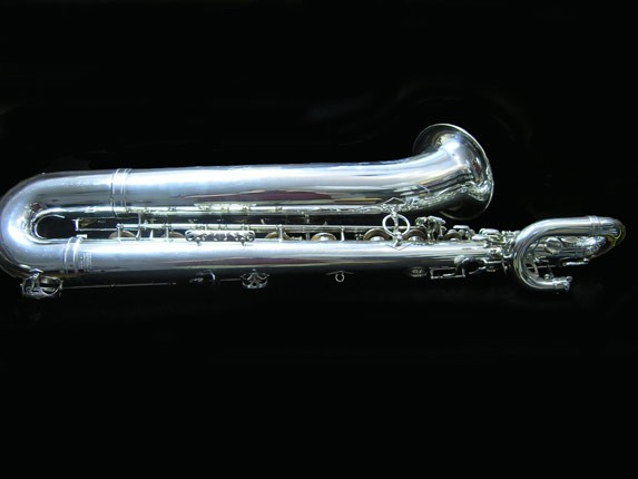 "Selmer Silver Plate Mark VI ""Low A"" Baritone - 177100 - Photo # 4"
