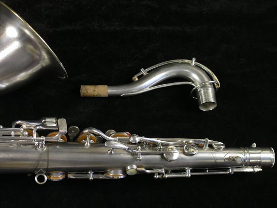 Conn Silver Plate Chu Berry Tenor - 156032 - Photo # 6