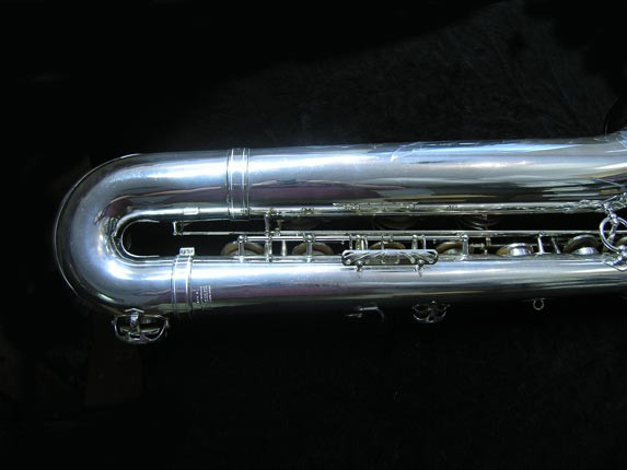 "Selmer Silver Plate Mark VI ""Low A"" Baritone - 177100 - Photo # 5"