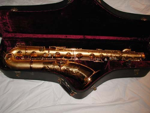 "Conn Gold Plate Chu Berry ""Mulligan Vintage"" Baritone - 208228 - Photo # 1"