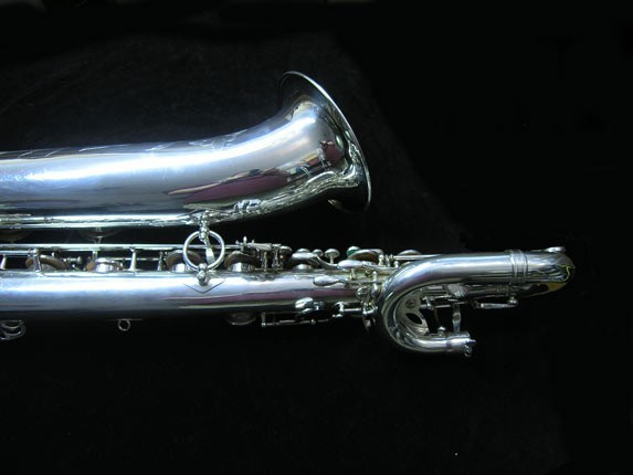 "Selmer Silver Plate Mark VI ""Low A"" Baritone - 177100 - Photo # 6"