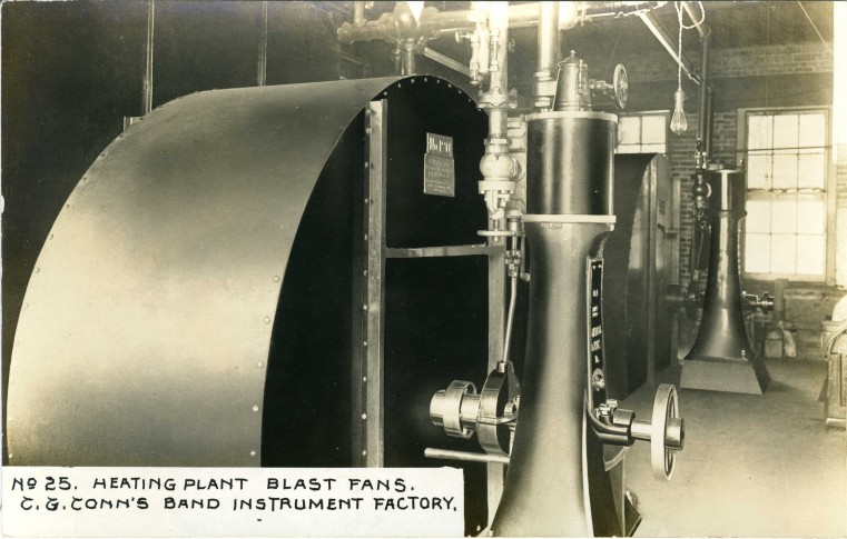 C.G. Conn's Band Instrument Factory 1913-Heating Plant Blast Fans