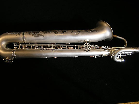 Selmer Matte Silver Super Balanced Action Bari Sax - 52454 - Photo # 2