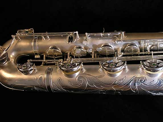 Selmer Matte Silver Super Balanced Action Bari Sax - 52454 - Photo # 3