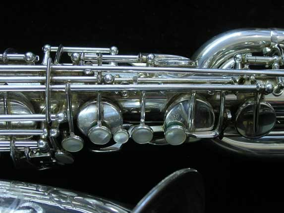 "Selmer Silver Plate Mark VI ""Low A"" Baritone - 177100 - Photo # 8"