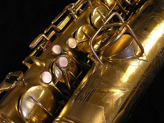 "Conn ""New Wonder"" Matte Gold Plate Tenor - 119420 - Photo # 10"