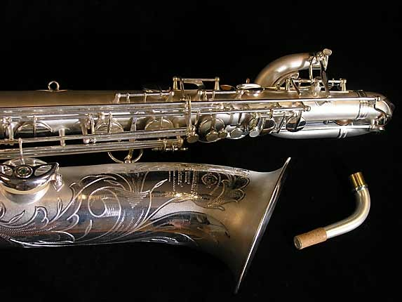 Selmer Matte Silver Super Balanced Action Bari Sax - 52454 - Photo # 4