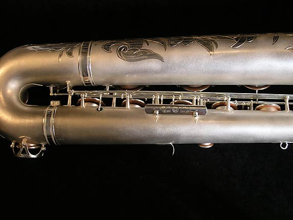 Selmer Matte Silver Super Balanced Action Bari Sax - 52454 - Photo # 5