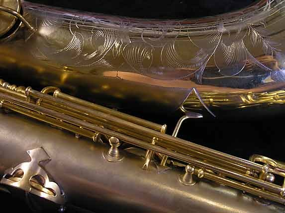 "Conn ""New Wonder"" Matte Gold Plate Tenor - 119420 - Photo # 12"