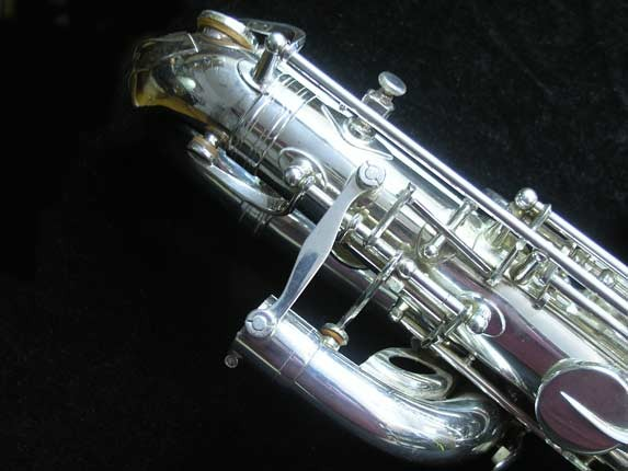 "Selmer Silver Plate Mark VI ""Low A"" Baritone - 177100 - Photo # 12"