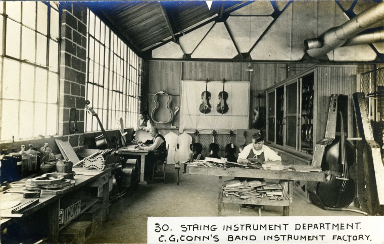 C.G. Conn's Band Instrument Factory 1913-String Instrument Department