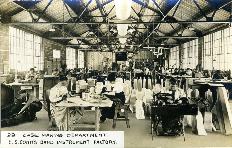 C.G. Conn's Band Instrument Factory 1913-Case Making Department
