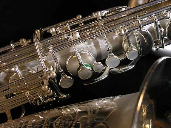 Selmer Matte Silver Super Balanced Action Bari Sax - 52454 - Photo # 9