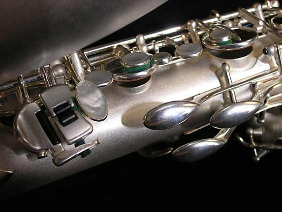 Selmer Matte Silver Super Balanced Action Bari Sax - 52454 - Photo # 10