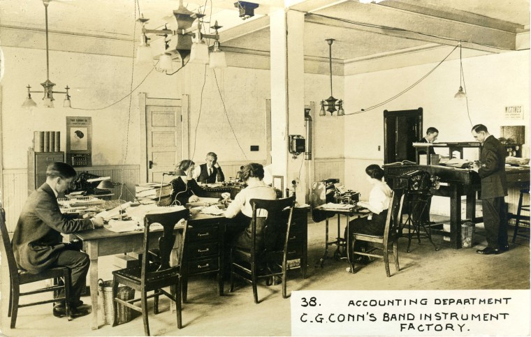 C.G. Conn's Band Instrument Factory 1913-Accounting Department