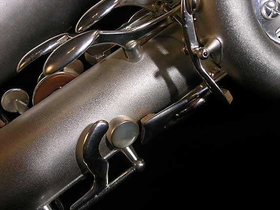 Selmer Matte Silver Super Balanced Action Bari Sax - 52454 - Photo # 11