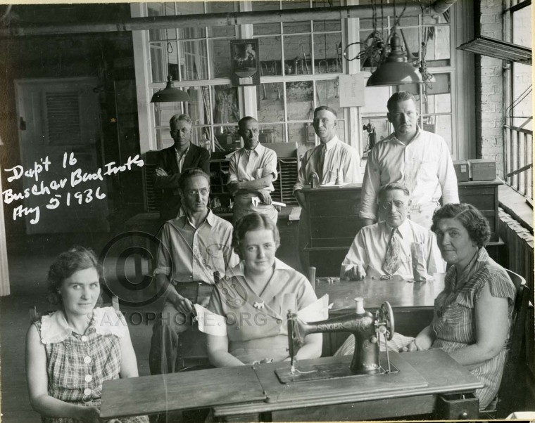 Buescher Band Instrument Co.  August 5, 1936-Department 16