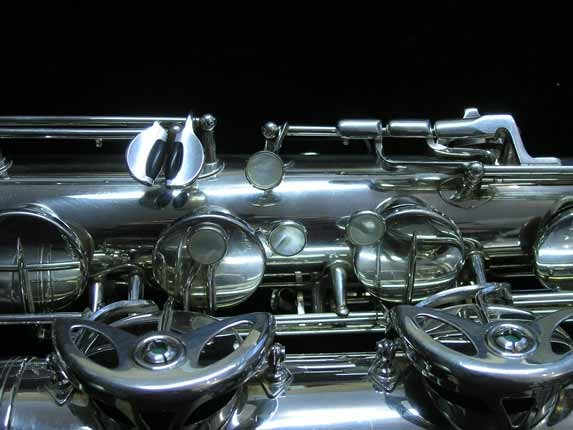 "Selmer Silver Plate Mark VI ""Low A"" Baritone - 177100 - Photo # 17"