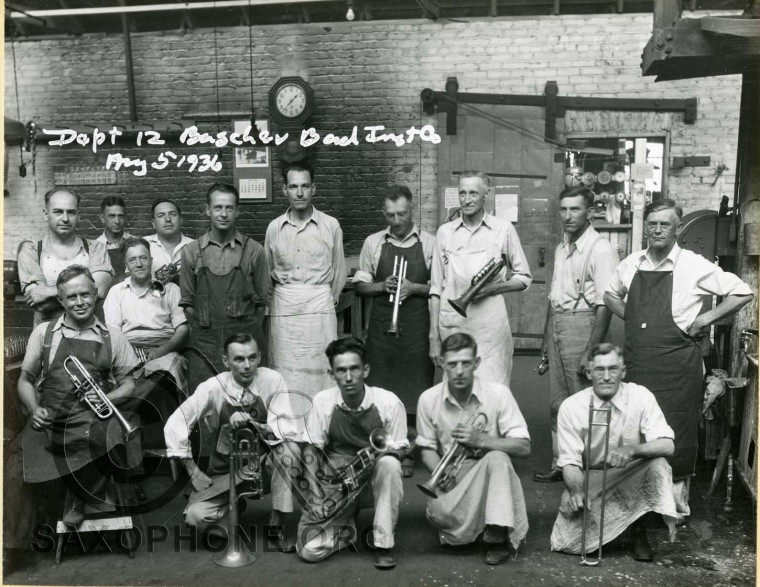 Buescher Band Instrument Co.  August 5, 1936 Department 12