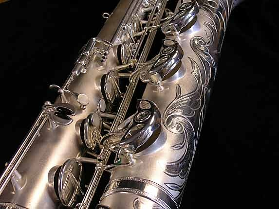 Selmer Matte Silver Super Balanced Action Bari Sax - 52454 - Photo # 15