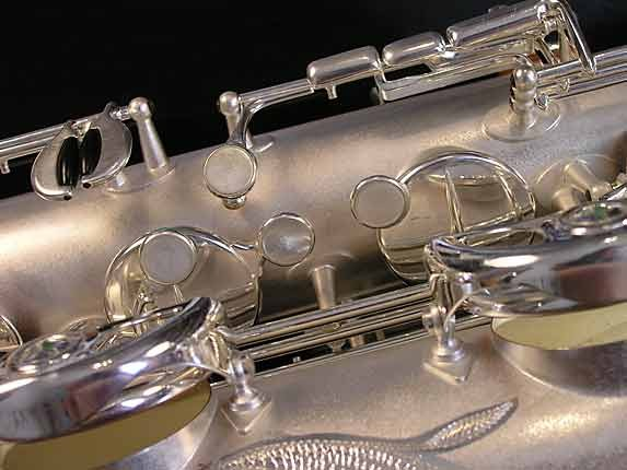 Selmer Matte Silver Super Balanced Action Bari Sax - 52454 - Photo # 16