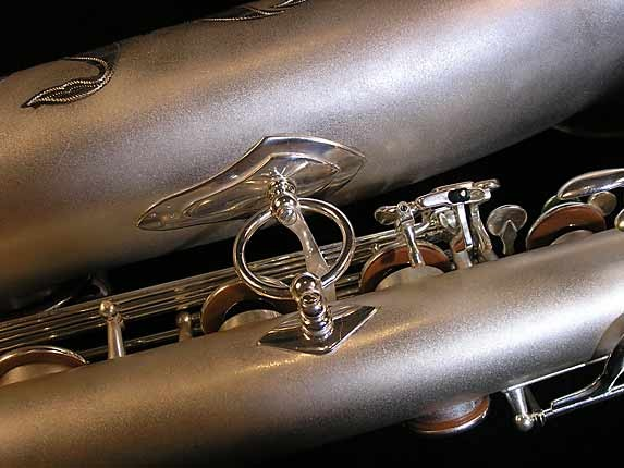 Selmer Matte Silver Super Balanced Action Bari Sax - 52454 - Photo # 17
