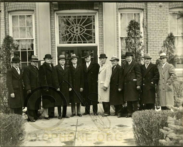 Holton Elkhorn Factory 1931-Holton School Band Organizers and Executive Staff