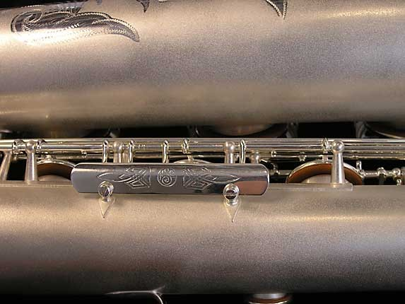 Selmer Matte Silver Super Balanced Action Bari Sax - 52454 - Photo # 18