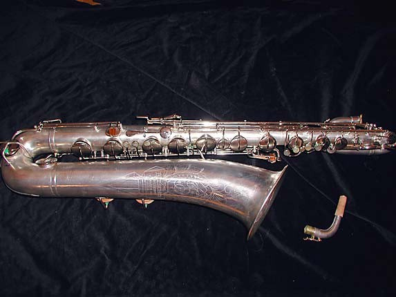 "Buescher Silver Plate Aristocrat ""Big B"" Baritone - 331816 - Photo # 1"