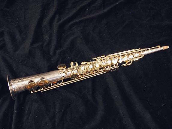 Buescher Silver w/ Gold Keys True Tone Soprano - 232227 - Photo # 1