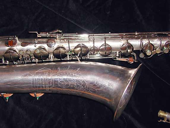 "Buescher Silver Plate Aristocrat ""Big B"" Baritone - 331816 - Photo # 3"