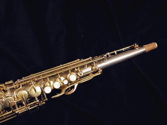Buescher Silver w/ Gold Keys True Tone Soprano - 232227 - Photo # 3