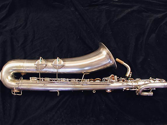 "Buescher Silver Plate Aristocrat ""Big B"" Baritone - 331816 - Photo # 5"