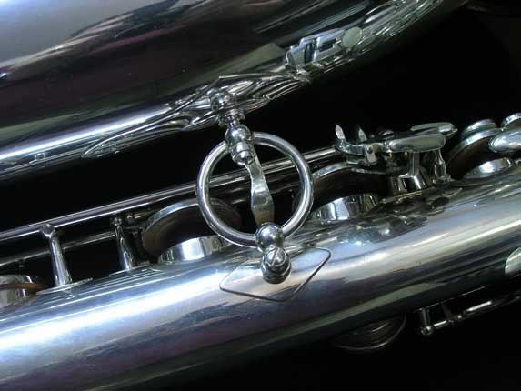 "Selmer Silver Plate Mark VI ""Low A"" Baritone - 177100 - Photo # 28"