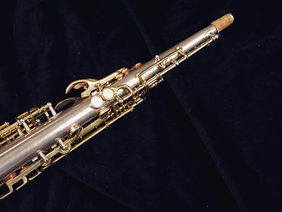 Buescher Silver w/ Gold Keys True Tone Soprano - 232227 - Photo # 6