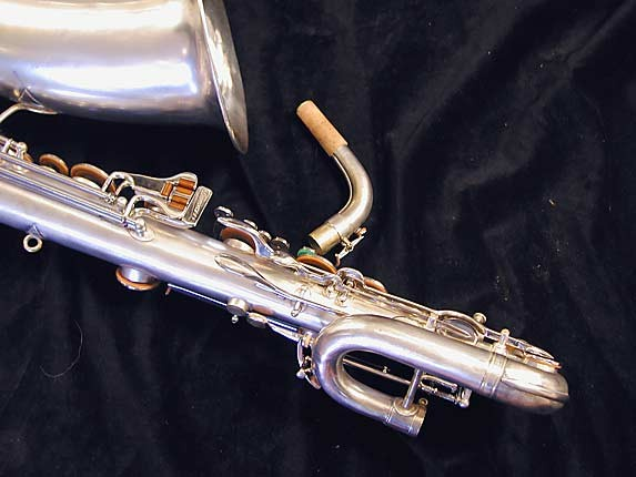 "Buescher Silver Plate Aristocrat ""Big B"" Baritone - 331816 - Photo # 8"
