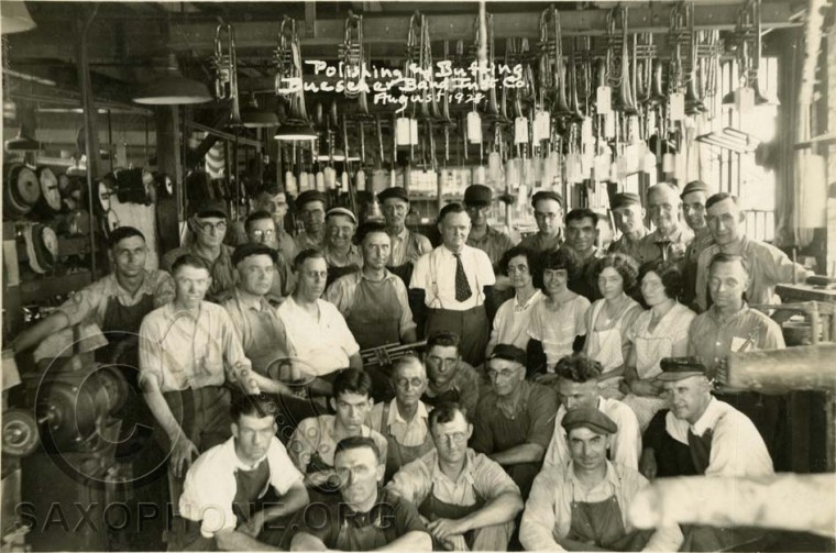 Buescher Factory August 1928-Polishing and Buffing Department
