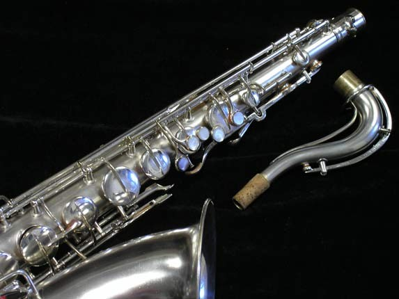 "Conn ""New Wonder"" Matte Silver Plate Tenor - 65941 - Photo # 3"